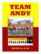 Team Andy Livestrong Newsletter!